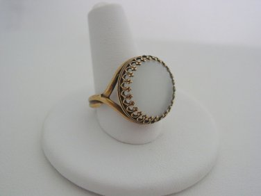Inspired Witches of East End Joanna's White Cat's Eye Antique Bronze Ring