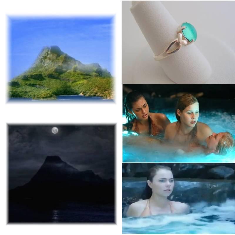 Mako Island Mako Mermaids H2O Adventure Moon Pool Sterling Silver Ring Size 4.5