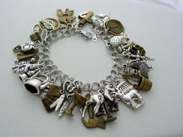 Ultimate Outlander Charm Bracelet 41 Charms