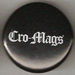 Cro Mags logo white on black A02