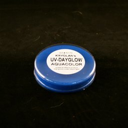 Kryolan UV Dayglo Cakes - Face Body Paint - Makeup - Blue
