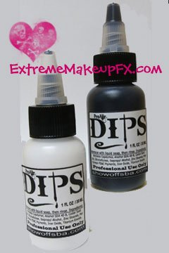 DIPS - Water-Proof Face Paints FX Makeup Black & White Set
