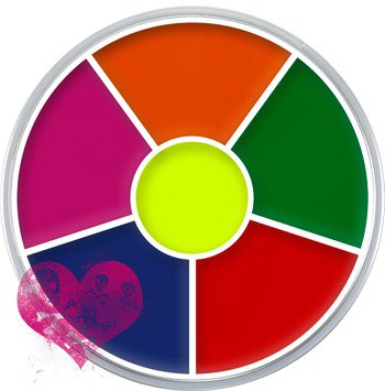 Kryolan UV Dayglow Ring Wheel - Makeup - Face Paint