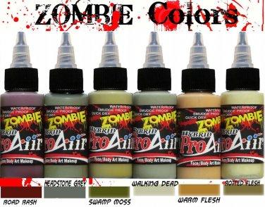 ProAiir Hybrid Airbrush Face Body Paint  Makeup 1 oz Set Zombie 1