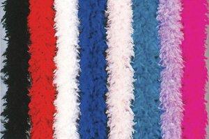 100 gram gm HOT PINK Chandelle Feather Boa Halloween Costume Mardi gras