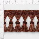 "4"" Brown Multi Tassel Fringe Home Decoration Trim Pillows Lamps"
