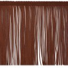 "6""  CHOCOLATE BROWN Chainette Fabric Fringe Trim By the Yard"