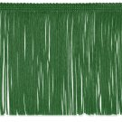 "6"" EMERALD GREEN Chainette Fabric Fringe Trim By the Yard"