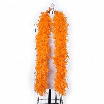 120 g gram gm Orange Chandelle Feather Boa Halloween Costume Mardi gras