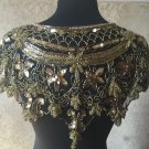 GOLD/BLACK Sequin and Beaded Shawl Bridal Wrap Shoulder Shrug