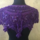 Purple Sequin and Beaded Shawl Bridal Wrap Shoulder Shrug