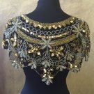 Silver Gold Sequin and Beaded Shawl Bridal Wrap Shoulder Shrug