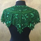 Green Sequin and Beaded Shawl Bridal Wrap Shoulder Shrug