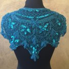 Turquoise Sequin and Beaded Shawl Bridal Wrap Shoulder Shrug