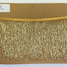 "5 Yard Bolt-6.5"" GOLD Glass BUGLE Bead Beaded Fringe Lamps, Costumes, Crafts"