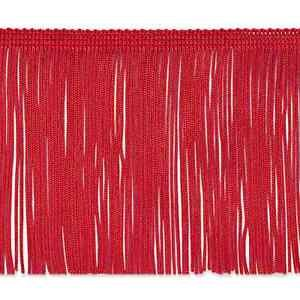 "6"" Red Chainette Fabric Fringe Lampshade Lamp Costume Trim by the Yard"