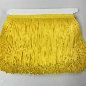 "By the Yard-6"" yellow Chainette Fabric Fringe Lampshade Lamp Costume Trim"