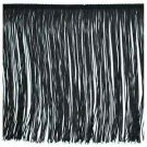"12"" Black Polyester Chainette Fabric Fringe Lampshade Lamp Costume Trim by the Yard"