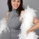 NWT Thick 120gm Chandelle Feather Boa WHITE 6 ft Flapper Burlesque Costume
