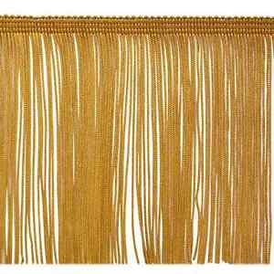 """6"""" Dark GOLD Chainette Fabric Fringe Lampshade Lamp Costume Trim by the Yard"""