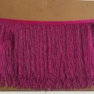 "By Yard 6.5"" Hot Pink Glass Seed Bead Beaded Fringe Lamp Lampshade Costume Trim"