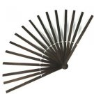 22 x 12 Brown Wood Bamboo Hand Fan Stave Costume Ostrich Feather Dance Base