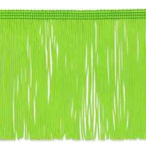 """By the Yard 6"""" Lime Green Chainette Fabric Fringe Lampshade Lamp Costume Trim"""