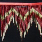 "1 Yard 6.5"" Red/Gold Glass Seed Bugle Beaded Fringe Chevron Lamp Costume Trim"