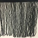 "1 Yard 6.5"" Black Glass BUGLE Bead Beaded Fringe Lamp Lampshade Costume Trim"