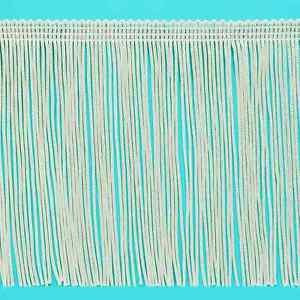 """6"""" IVORY OFF WHITE Chainette Fabric Fringe Lampshade Lamp Costume Trim by Yard"""