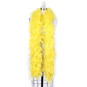 NWT Thick 120g Chandelle Feather Boa Yellow 6ft Flapper Burlesque Costume