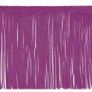 "By the Yard 6"" Berry Purple Chainette Fabric Fringe Lampshade Lamp Costume Trim"