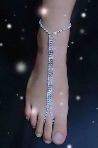 Rhinestone Barefoot Sandals Anklet Beach Wedding Foot Jewelry