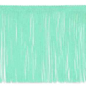 "By the Yard 6"" Mint Green Chainette Fabric Fringe Lampshade Lamp Costume Trim"