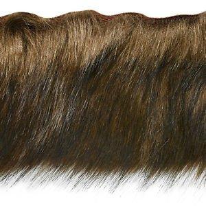 "By Yard-4"" Brown Faux Fur on Bias Fringe Lampshade Lamp Pillow Costume Trim"
