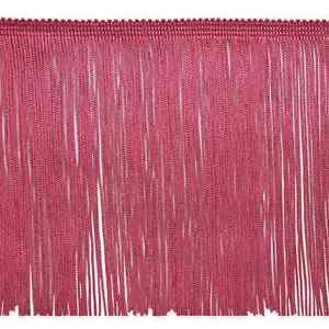 "By Yard 6"" Dark Rose Hot Pink Chainette Fabric Fringe Lampshade Lamp Costume Trim"