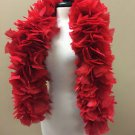 THICK Red 240 gm 6ft Wire Wrapped Turkey Feather Boa Theater Quality Stage