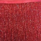"""By the Yard-6"""" Glass RED BUGLE Seed Bead Beaded Fringe Lamp Costume Trim"""