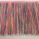 "By the yard-8"" Neon Rainbow DOUBLE STRAND Chainette Fringe by the Yard Lamp Home Decor Trim"
