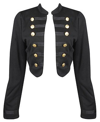 F21 Forever 21 Cropped Military Jacket (M)