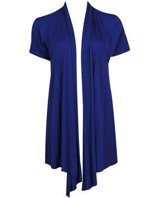 F21 Forever 21 Navy Blue Short Sleeve Open Cardigan (M)