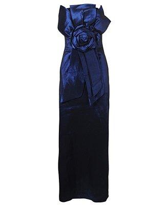 F21 Forever 21 Strapless Royal Blue Trophy Prom Dress (M)