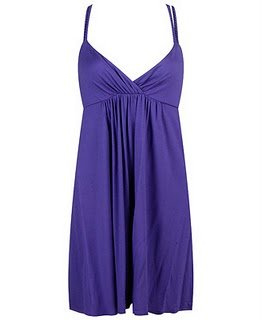 F21 Forever 21 Purple Gathered Bust Knit Dress (L)
