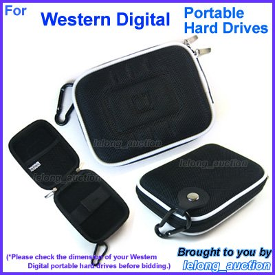 Black Carry Case Cover for Western Digital WD My Passport Essential SE / Elite / for Mac SE