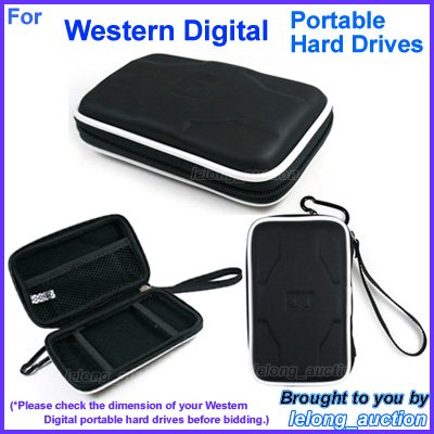 Black Carry Case Cover for Western Digital WD Elements Portable SE Portable Hard Drives