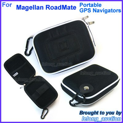 Black Carry Case Cover for Magellan RoadMate 1400 1412 1424 1430 1440 1445T Portable GPS Navigators