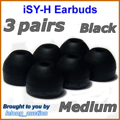 Medium Ear Buds Tips Pads Cushions for Sony MDR EX300 EX500 EX700 EX310 EX510 EX600 EX1000 @Black