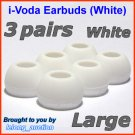 Large Ear Buds Tips Pads for Sennheiser CX 270 271 280 281 300 300-II 400 400-II 500 475 485 @White