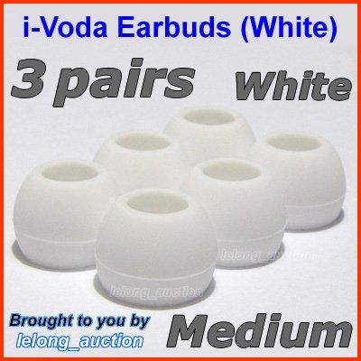 Medium Ear Buds Tips Pads for Sennheiser CX 270 271 280 281 300 300-II 400 400-II 500 475 485 @White