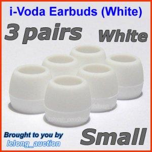 Small Ear Buds Tips Pads for Sennheiser CX 270 271 280 281 300 300-II 400 400-II 500 475 485 @White